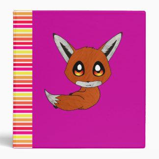 cute fox binder