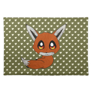 cute fox cloth place mat