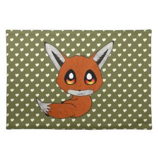 cute fox cloth placemat