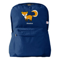 cute fox forest animal cartoon backpack