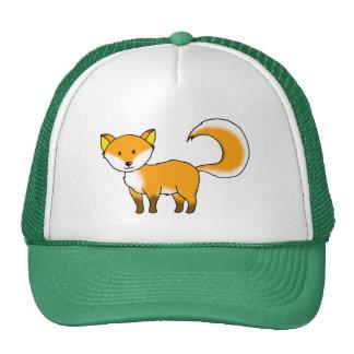 cute fox forest animal cartoon hat