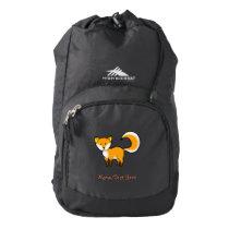 cute fox forest animal cartoon high sierra backpack