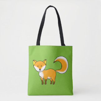 cute fox forest animal cartoon tote bag