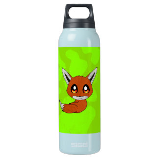 cute fox insulated water bottle
