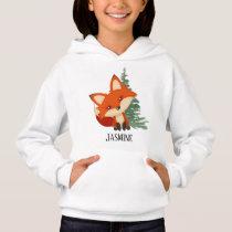 cute fox lovers add name hoodie