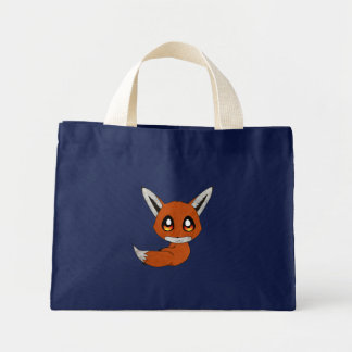 cute fox mini tote bag