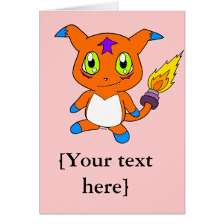 Cute fox-monster card