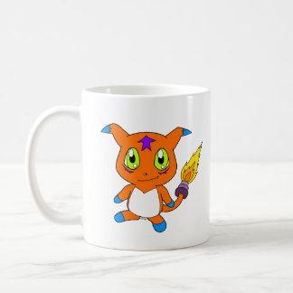 Cute fox-monster coffee mug