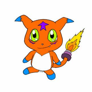 Cute fox-monster cutout