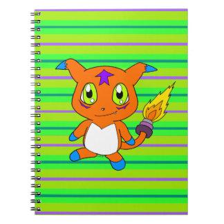 Cute fox-monster spiral notebook