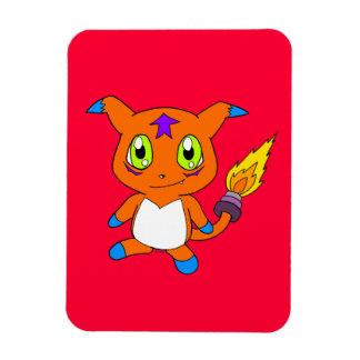 Cute fox-monster rectangular photo magnet