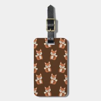 Cute Fox Pattern Luggage Tag