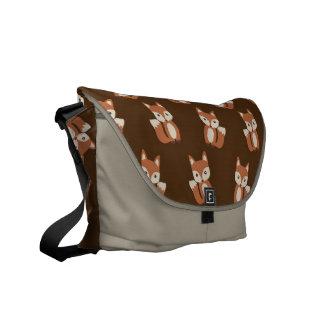 Cute Fox Pattern Messenger Bag