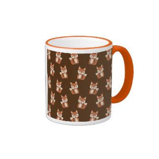Cute Fox Pattern Ringer Coffee Mug