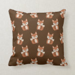 Cute Fox Pattern Throw Pillow