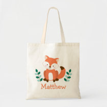 Cute Fox Personalized Tote Bag