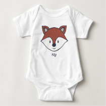 Cute Fox Personalized Woodland Baby Gift Baby Bodysuit