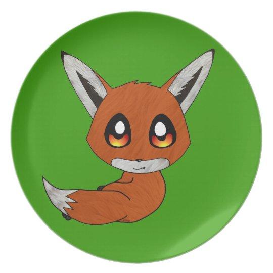 cute fox plate