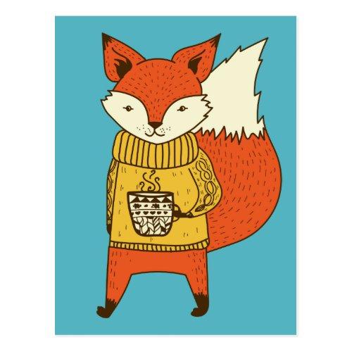 Cute Fox postcard