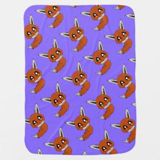 cute fox receiving blanket