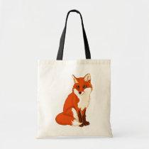 Cute Fox Sitting Tote Bag