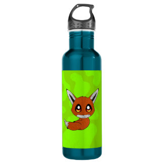 cute fox stainless steel water bottle