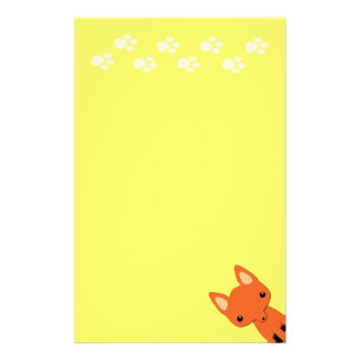Cute fox stationary personalized stationery