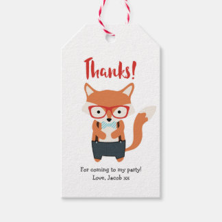 Cute Fox Thank you tags | Favour tags