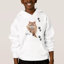 Cute Fox Tracks Animal Hoodie