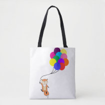 Cute Fox with Balloons Tote Bag