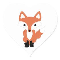 Cute Fox Woodland Animal Stickers