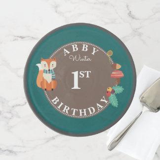 Cute Fox Woodland Cake Smash First Birthday Cake Stand