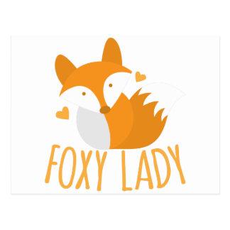 Cute foxy lady postcard