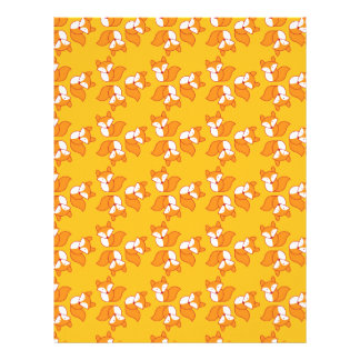 Cute foxy pattern letterhead