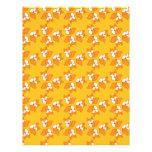 Cute foxy pattern letterhead design