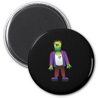 Cute Frankenstein Halloween Magnet