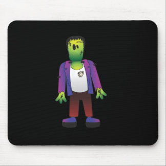 Cute Frankenstein Halloween Mouse Pad