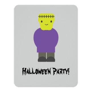 "Cute Frankenstein Halloween Party Invitation 4.25"" X 5.5"" Invitation Card"