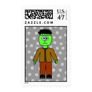 Cute Frankenstein Halloween Postage Stamp