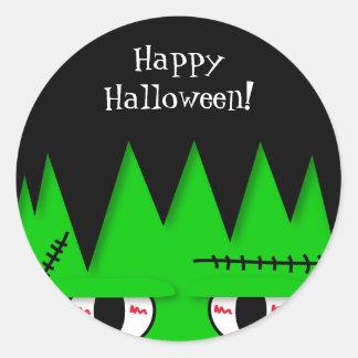 Cute Frankenstein Halloween Stickers