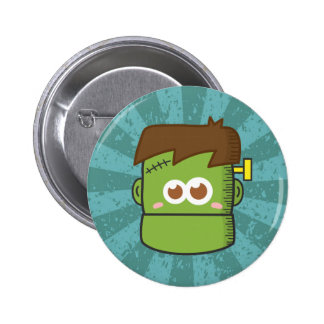 Cute Frankenstein Monster for Halloween Button