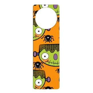 Cute Frankenstein, Spider Halloween Door Hanger