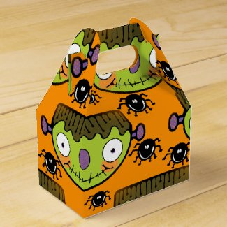 Cute Frankenstein, Spider Halloween Favor Box