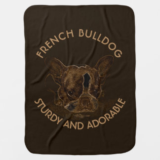Cute French Bulldog Abstract Drawing Stroller Blanket