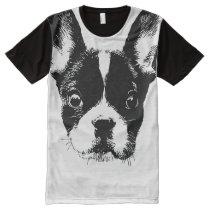 Cute French Bulldog All-Over-Print T-Shirt