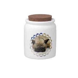 Cute French Bulldog Candy Jar