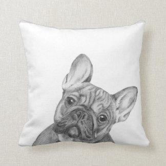 Cute French Bulldog cushion by Tracy Stone Throw Pillow