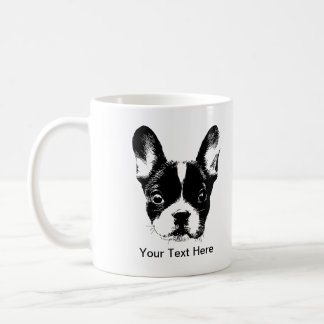 Cute French Bulldog Dog Face Coffee Mug