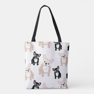 Cute French Bulldog Frenchies Pattern Tote Bag