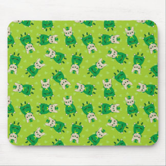 Cute French Bulldog is Feeling Lucky on St. Patric Mouse Pad